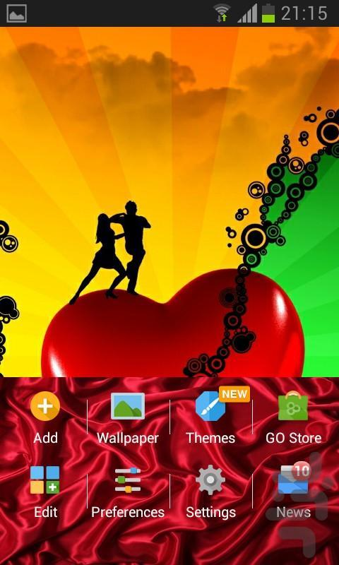 Love GOLauncher EX Theme - Image screenshot of android app