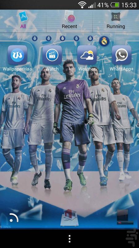 تم گولانچر تیم رئال مادرید - عکس برنامه موبایلی اندروید