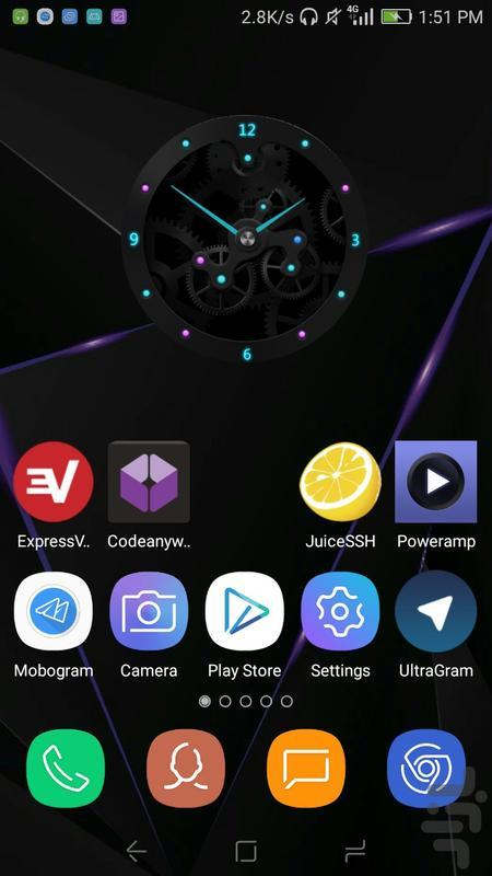 ویجت ساعت - عکس برنامه موبایلی اندروید