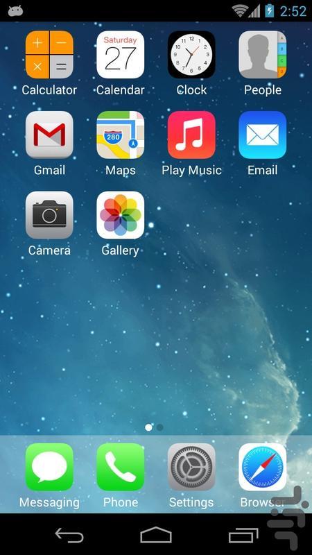 لانچر کامل آیفون - عکس برنامه موبایلی اندروید