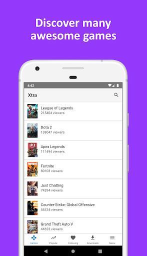 Xtra for Twitch - عکس برنامه موبایلی اندروید