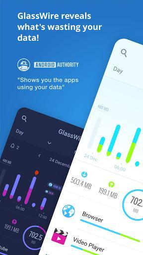 GlassWire - عکس برنامه موبایلی اندروید