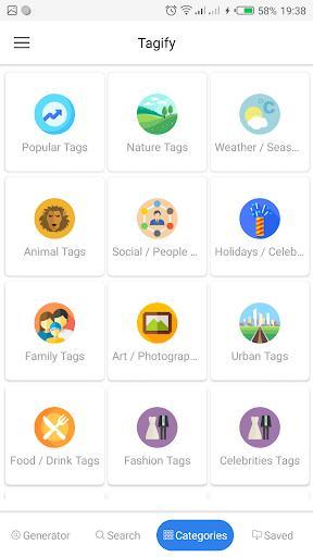 Tagify: hashtags for Instagram - عکس برنامه موبایلی اندروید