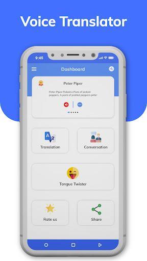 Voice Translator App : Text On Photo Translate - عکس برنامه موبایلی اندروید