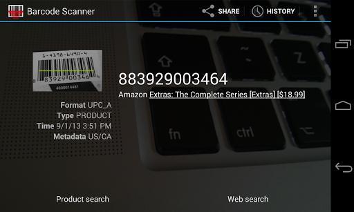 Barcode Scanner - عکس برنامه موبایلی اندروید