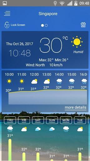 Weather forecast - عکس برنامه موبایلی اندروید
