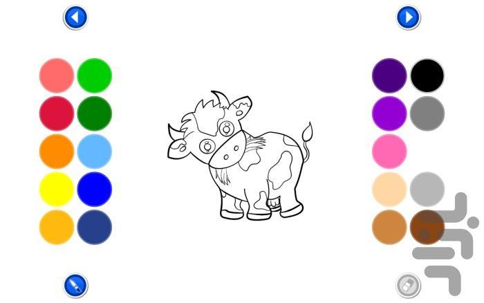 کتاب رنگ آمیزی حیوانات - عکس برنامه موبایلی اندروید