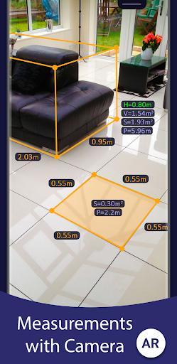 AR Ruler App – Tape Measure & Camera To Plan - Image screenshot of android app