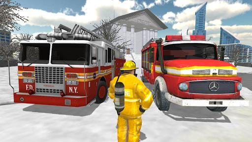Fire Truck Rescue Simulator - عکس بازی موبایلی اندروید
