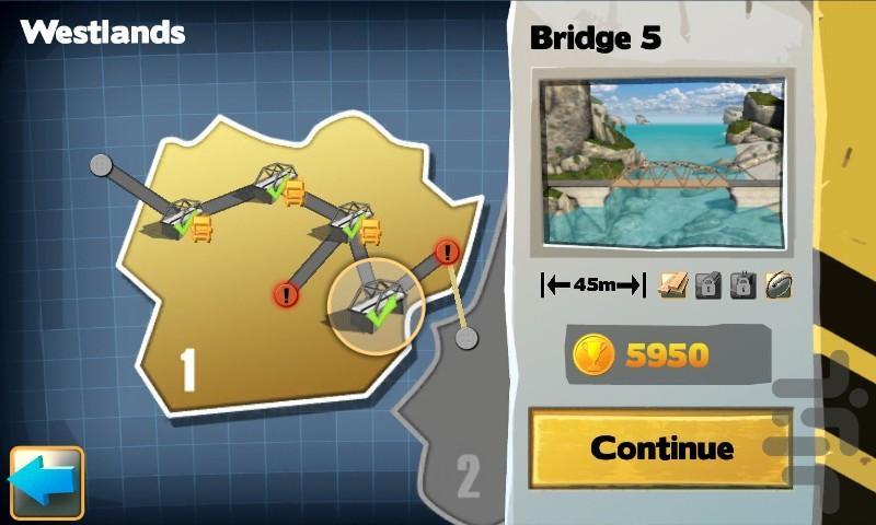 Bridge Constructor - عکس بازی موبایلی اندروید
