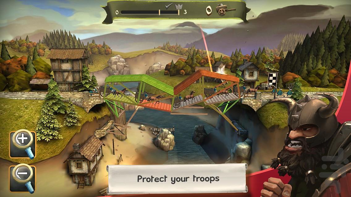 Bridge Constructor Medieval - عکس بازی موبایلی اندروید