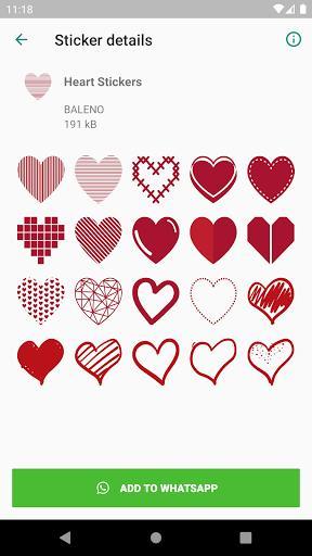 Heart Stickers - WAStickerApps - عکس برنامه موبایلی اندروید