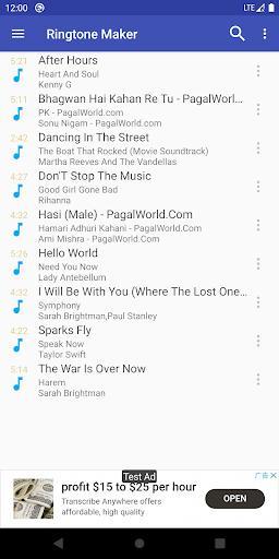 Ringtone Maker - create free ringtones from music - عکس برنامه موبایلی اندروید