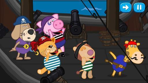 Pirate treasure: Fairy tales for Kids - عکس بازی موبایلی اندروید