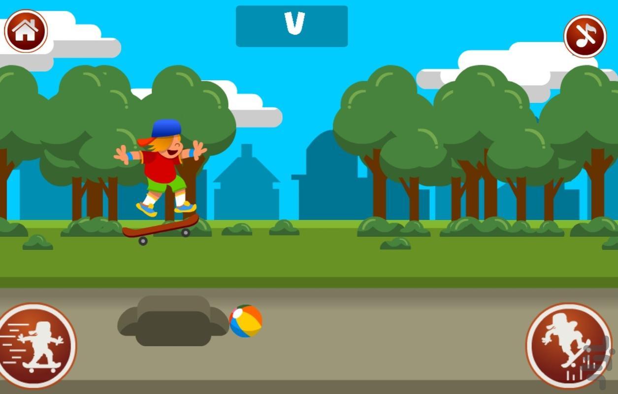 اسکیت باز - بازی اسکیت خیابانی - عکس برنامه موبایلی اندروید