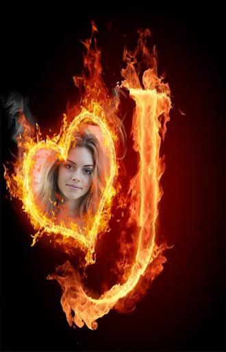 Fire Alphabet Photo Frames - عکس برنامه موبایلی اندروید