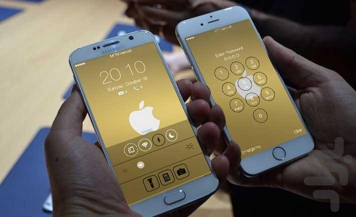 قفل صفحه HD آیفون - Image screenshot of android app
