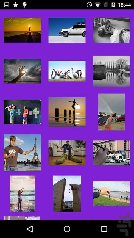 ژست عکاسی خلاقانه - عکس برنامه موبایلی اندروید