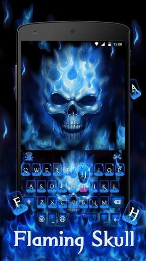 Flaming Skull Keyboard Theme - عکس برنامه موبایلی اندروید