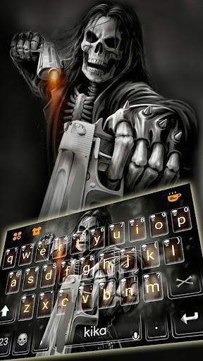 Badace Skull Guns Keyboard - cool gun theme - عکس برنامه موبایلی اندروید