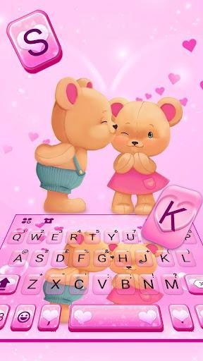 Bear Couple Keyboard Theme - عکس برنامه موبایلی اندروید