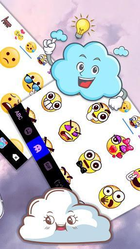 Clouds Keyboard Theme - عکس برنامه موبایلی اندروید