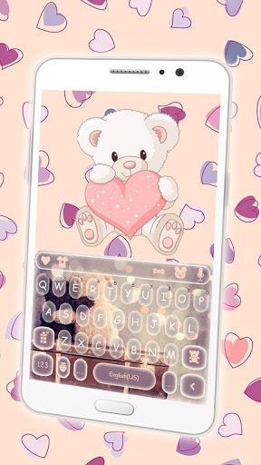 Cute Bear Keyboard Theme - عکس برنامه موبایلی اندروید