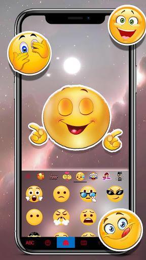 Galaxy Background Keyboard Theme - عکس برنامه موبایلی اندروید