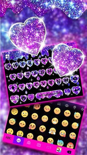 Galaxy Liquid Droplet Keyboard Theme - عکس برنامه موبایلی اندروید