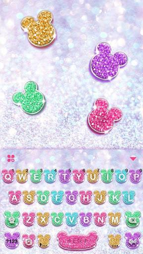 Girly Glitter Minny Keyboard Theme - عکس برنامه موبایلی اندروید