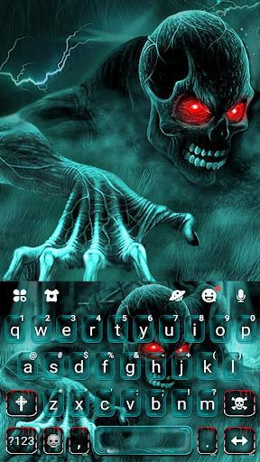 Zombie Skull Keyboard - عکس برنامه موبایلی اندروید