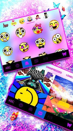 Infinity Butterfly Love Keyboard Theme - عکس برنامه موبایلی اندروید
