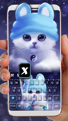 Kitty Hat Keyboard Theme - عکس برنامه موبایلی اندروید