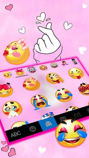 Love Pink Heart Keyboard Theme - عکس برنامه موبایلی اندروید
