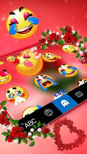 Love Red Rose Keyboard Theme - عکس برنامه موبایلی اندروید
