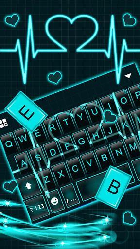Neon Heart Love Keyboard Theme - عکس برنامه موبایلی اندروید