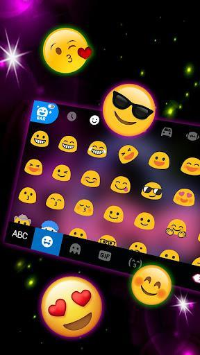 Neon Love Keyboard Theme - عکس برنامه موبایلی اندروید