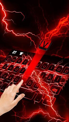 Red Lightning Keyboard Theme - عکس برنامه موبایلی اندروید