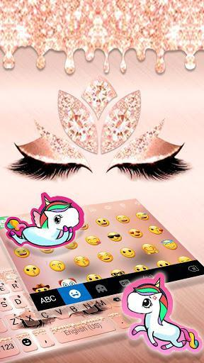 Rose Gold Drop Princess Keyboard Theme - عکس برنامه موبایلی اندروید