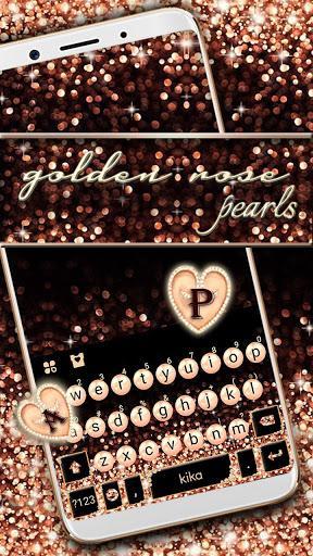 Gold Rose Pearl Luxury Keyboard - عکس برنامه موبایلی اندروید