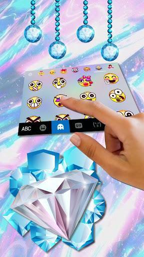 Shining Diamond Keyboard Theme - عکس برنامه موبایلی اندروید