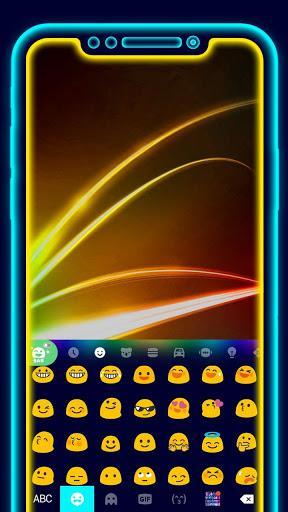 Super Neon 3d Keyboard Theme - عکس برنامه موبایلی اندروید