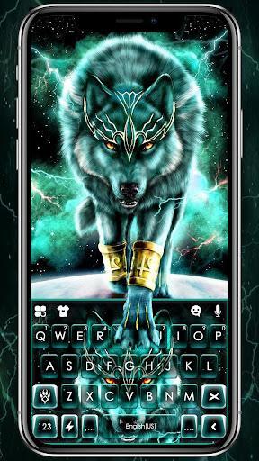 Thunder Neon Wolf Keyboard Theme - عکس برنامه موبایلی اندروید