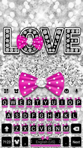 Twinkle Minny Bowknot Keyboard Theme - عکس برنامه موبایلی اندروید