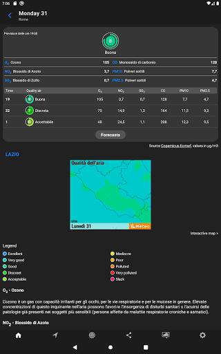 The Weather: weather forecast by iLMeteo - عکس برنامه موبایلی اندروید