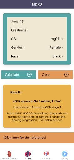 eGFR Calculators Pro: Renal or Kidney Function - عکس برنامه موبایلی اندروید