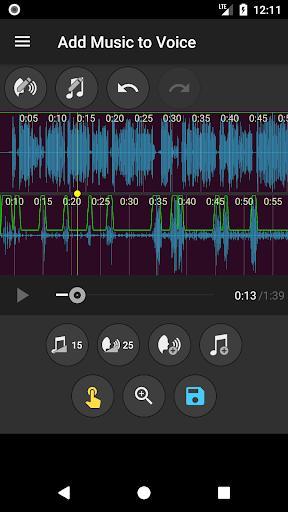 Add Music to Voice - گذاشتن آهنگ روی صدا - عکس برنامه موبایلی اندروید