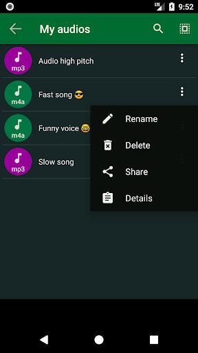 Audio Speed Changer - عکس برنامه موبایلی اندروید