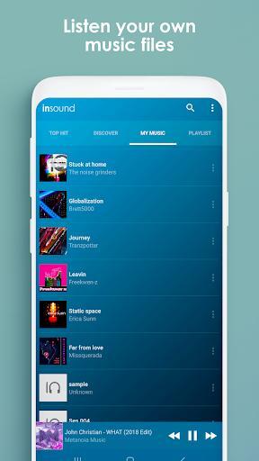 inSound - Online Music - عکس برنامه موبایلی اندروید