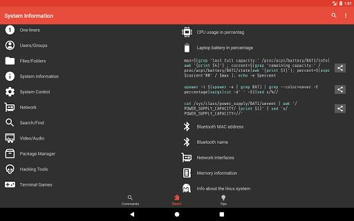 Linux Command Library - عکس برنامه موبایلی اندروید